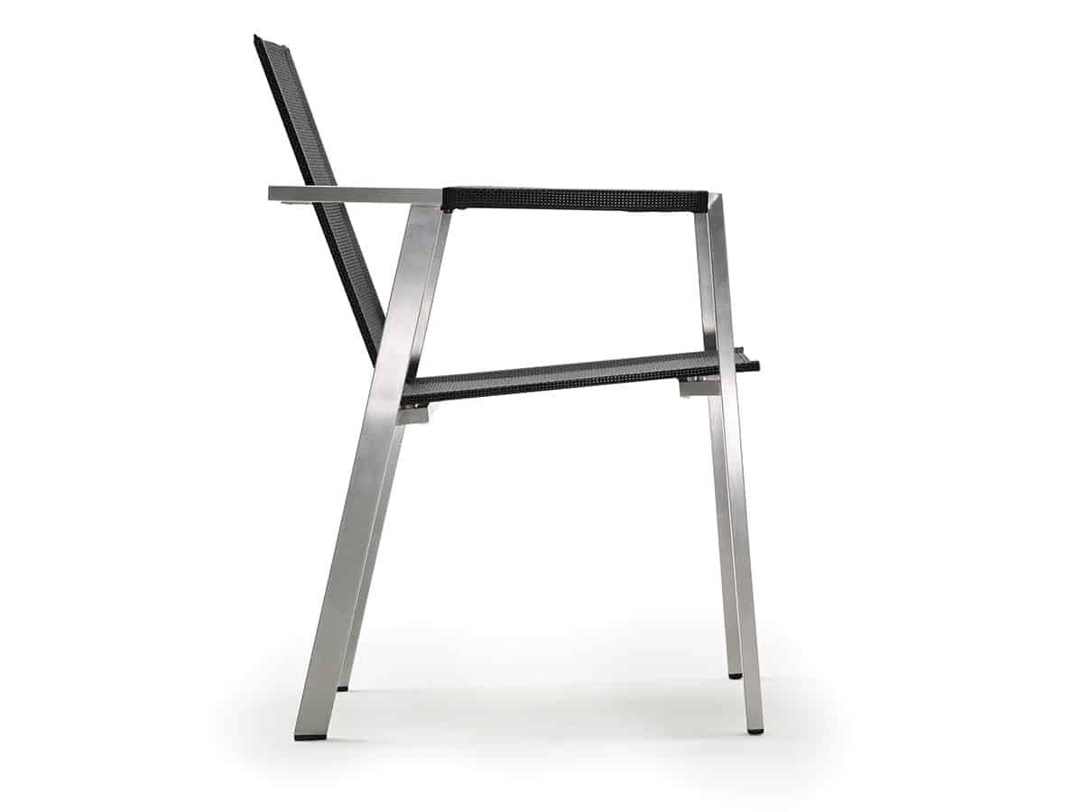 Allure steel Stapelsessel