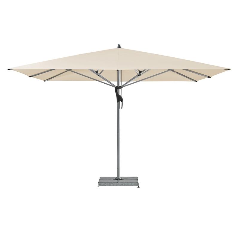 Fortello / LED Sonnenschirm, quadratisch, 400 x 400 cm easy