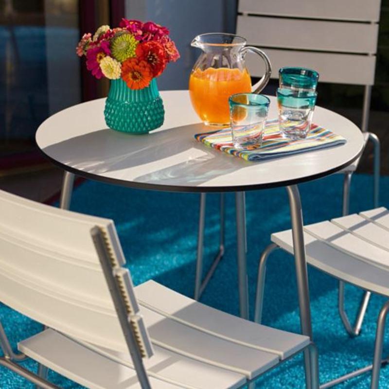 Balcony Bistro-Tisch, Ø 69 cm, Tischplatte aus Kunststoff