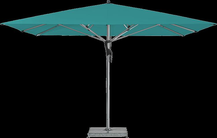 Fortello / LED Sonnenschirm, rechteckig, 350 x 250 cm